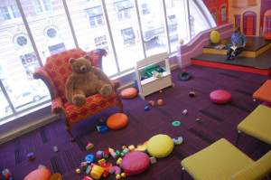 Teddy bears need a chair to read in, too!